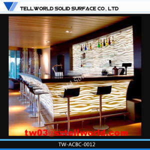 Stylish Bar Counter Acrylic Solid Surface LED Lighting pictures & photos