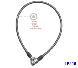 Steel Cable Lock (TK419) Bike Lock pictures & photos
