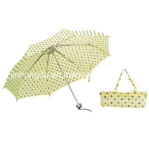 Manual Open Chrome Plated Shaft Fold Umbrella (YSC0012)