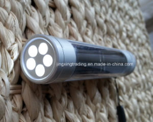 Portable Aviation Aluminum Alloy LED Solar Flashlight (JX-SF009-2) pictures & photos