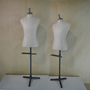 Fabric Wrapped Male Torso Mannequin in Hot Sale pictures & photos