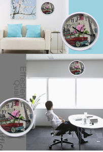 12 Inch Round Plastic Wall Clock, Home Decoration Plastic Home Goods Wall Clock pictures & photos