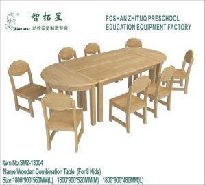 Kids Wooden Table Multi-Purpose Wooden Table for Preschool Smz-13004