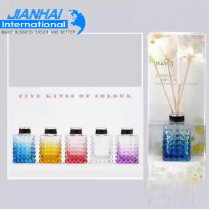 Diamond Five Kinds of Colorful Aramis Cosmetic Glass Bottle pictures & photos