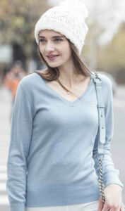 Women Pure Cashmere Pullover Sweater (1500002053) pictures & photos