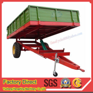 Farm Machine for Sjh Tractor Trailed Tipping Trailer pictures & photos