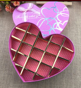 2017 High Quality Print Chocolate Box Hot Stamping Heart-Shaped pictures & photos