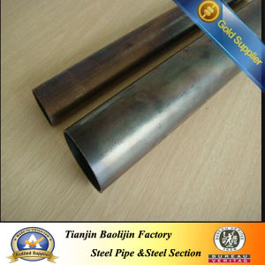 Q195 Black Annealed Round Steel Tube pictures & photos