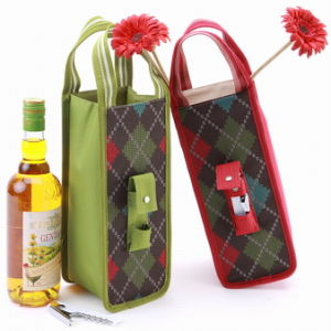 Christmas Wine Bottle Bags Holder for 1 Bottle (CA1376-5)
