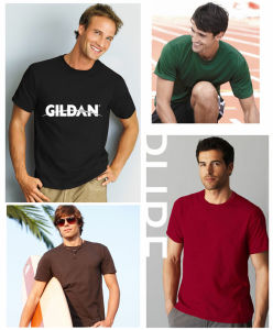 Men′s T-Shirts in Short Sleeve in Cotton in Screen Heat Transfers pictures & photos