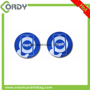 125kHz or 13.56MHz square adhesive RFID paper tag RFID label pictures & photos