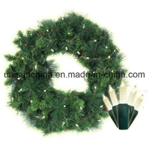 30 in. Pre-Lit Anchorage Fir Pine Wreath with Incandescent Light (MY310.255.00) pictures & photos