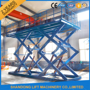 Heavy Duty Hydraulic Large Platform Scissor Car Lift for Sale pictures & photos