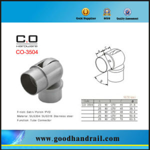 Stainless Steel Adjustable Tube Connector for Handrail (CO-3504) pictures & photos