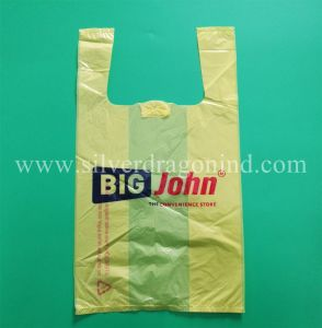 Eco-Friendly Recyclable Printed Plastic T-Shirt Shopping Bag pictures & photos