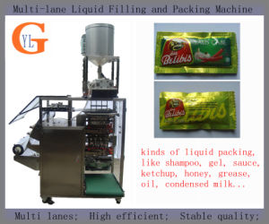 Multi-Lane Sauce and Oil Packing Machine (4-side sealing; 10 to 50ml) pictures & photos