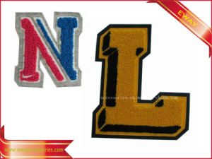 Clothing Letter Patch Felt Flocking Chenille Patch pictures & photos