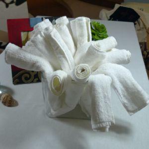 100% Cotton White Face Towel Hotel Towel