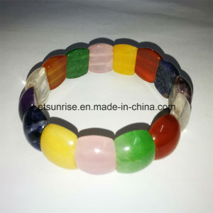 Semi Precious Stone Mix Color Natural Crystal Amethyst Beaded Bracelet pictures & photos