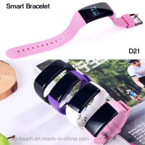 Newest Bluetooth Smart Bracelet with Heart Rate Monitor (D21) pictures & photos