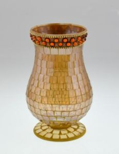 New Design Mosaic Glass Candle Holder pictures & photos