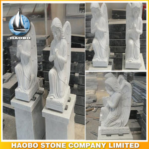 White Marble Kneeling Angel Statues for Sale pictures & photos