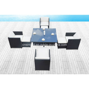 Dining Table & Chairs for Outdoor with 4 Footstools (8219KD) pictures & photos