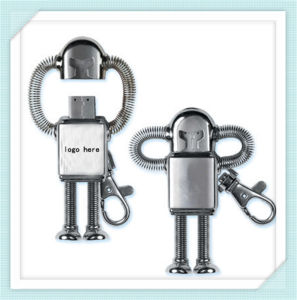 Silver Metal Man Robot USB Flash Memory for Boy (EP040) pictures & photos