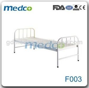 Hospital Steel Flat Care Patient Bed pictures & photos