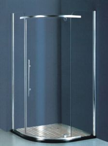 Sanitary Ware Tempered Glass Corner Shower Enclosure (H008) pictures & photos