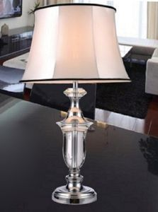 Phine 90176 Clear Crystal Table Lamp with Fabric Shade pictures & photos