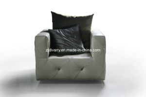 Post-Modern Living Room Sofa Leather Leisure Sofa (LS-101A) pictures & photos