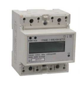 LCD Display Single Phase DIN Rail Kwh Power Meter pictures & photos