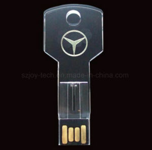 Crystal USB Flash Drive with Your Own 3D Logo pictures & photos