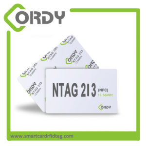 13.56MHz Plastic offseting printing PVC RFID NTAG213 NFC card pictures & photos
