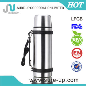 Outdoor Double Wall Stainless Steel Vacuum Bottle with Two Cup (FSUE) pictures & photos