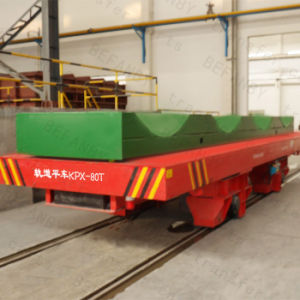 Hydraulic Automatic Transfer Cart for Heavy Loading Running (KPX-80T) pictures & photos
