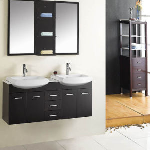 Black High Gloss Lacquer Modern Bathroom Cabinet pictures & photos