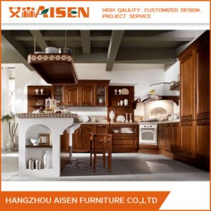 Export to America Kitchen Door Maple Solid Wood Kitchen Cabinet pictures & photos
