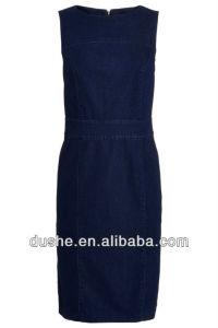 2014 Hot Sale U′sake Dongguan Ladies Sleeveless Denim Dress S131423