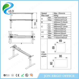 Electric Adjustable Office Stand up Desk (JN-SD520P) pictures & photos