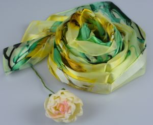 100%Silk Stripe Scarf Fashion Silk Square Scarf 150060100802-3 pictures & photos