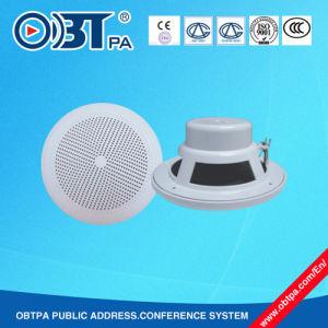 Waterproof Super Bass 6W Ceiling Speaker, ABS Public Address System Ceiling Speaker