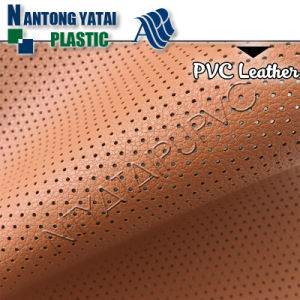 High Quality Punched PVC Leather for Auto Car Making pictures & photos