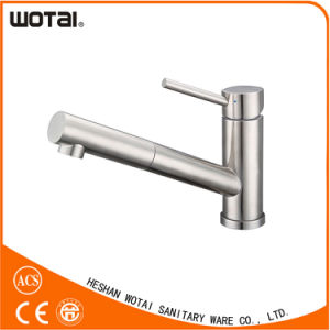 Brushed Nickel PVD Finished Pull out Kitchen Faucets pictures & photos