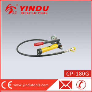 Mini Hydraulic Hand Pump with Pressure Gauge (CP-180G) pictures & photos