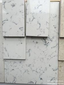 Interior Decoration Engineered Quartz Stone of The Color Carrara White