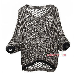Ladies Fashion Crochet Pullover Sweater for Autumn Spring Season