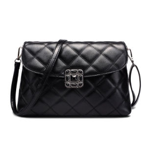 New Style Designer PU Women Cross Body Clutch Black Ladie Bag (4588) pictures & photos