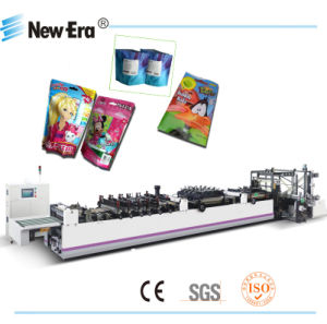 Full-Automatic PLC Control and Three Servo Motor Double Side Sealing Machine with Stand-up &Zipper